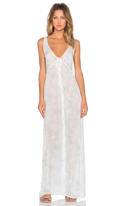 For Love & Lemons Desert Palm Maxi Dress in Sage Palm