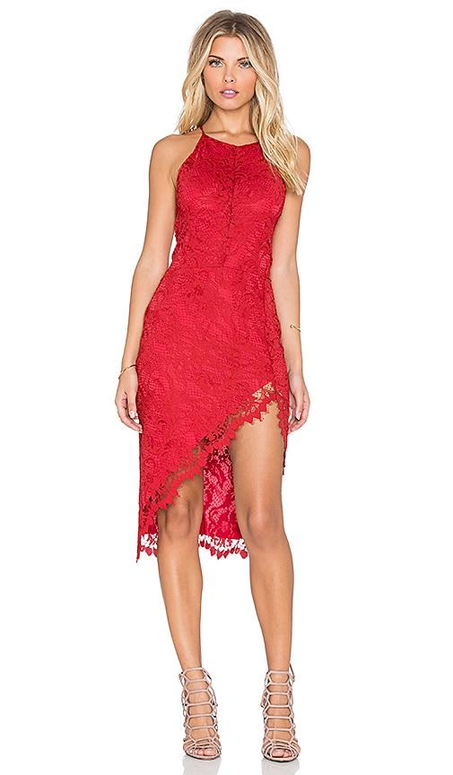 For Love & Lemons x REVOLVE Maui Waui Dress in Deep Red