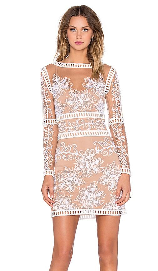09df9c1623a9 For Love & Lemons Desert Nights Mini Dress in White & Nude | REVOLVE