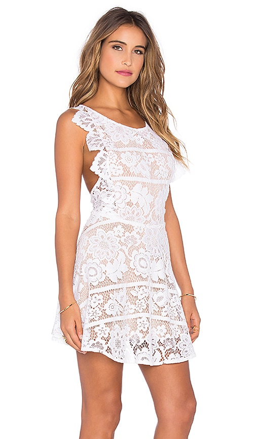 For Love & Lemons Gianna Dress in White