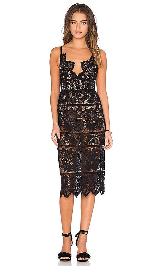For Love & Lemons Gianna Dress in Black |
