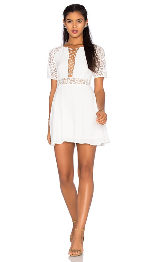 For Love & Lemons x REVOLVE Madeline Dress in White