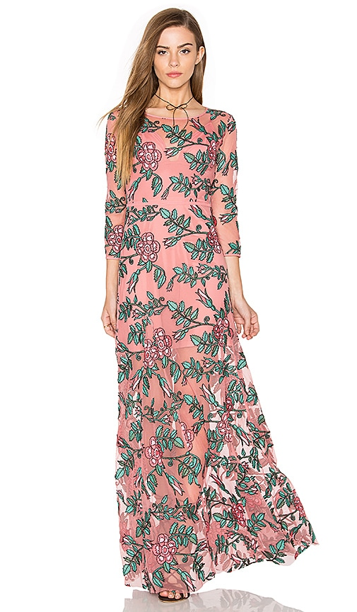 For Love & Lemons Rosali Maxi Dress in Pink