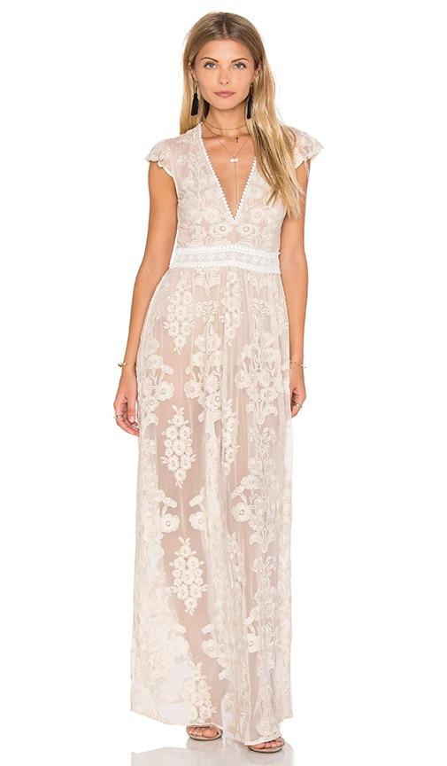 For Love & Lemons x REVOLVE Violetta Dress in Beige