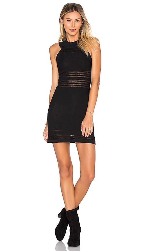 For Love & Lemons KNITZ Rivington Dress in Black