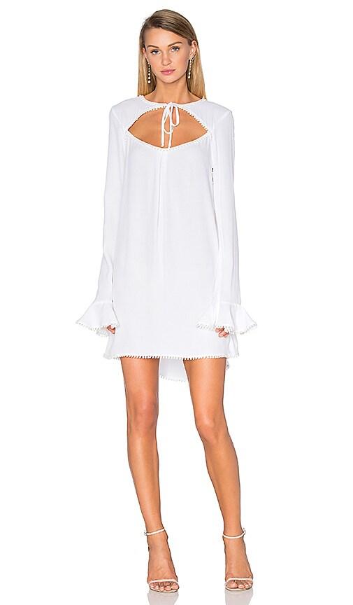 For Love & Lemons Josephina Swing Dress in White