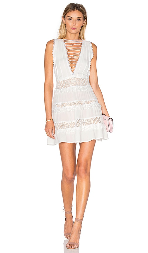For Love & Lemons Lola Rose Dress in White