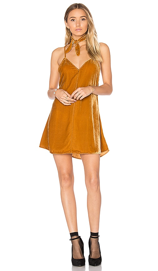 For Love & Lemons Collette Tank Dress in Tan