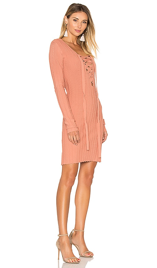 dc3272bfd8 delicate For Love   Lemons x KNITZ Simone Lace Front Sweater Dress in Pink