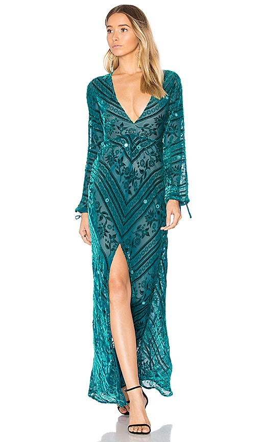 For Love & Lemons Jadore Dress in Teal