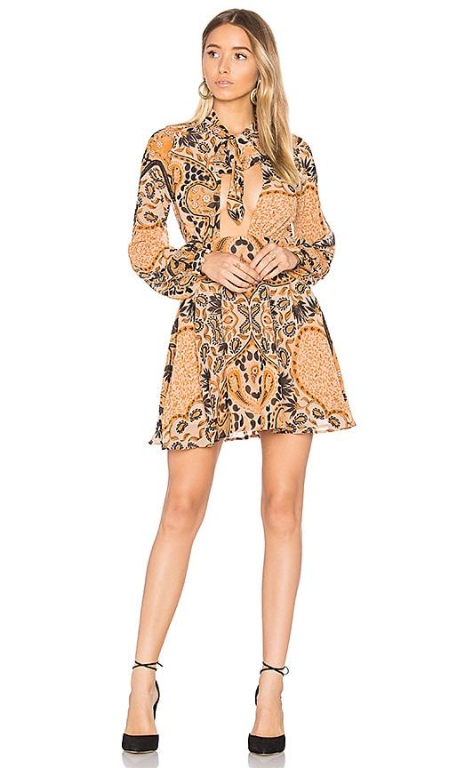 For Love & Lemons Elodi Mini Dress in Orange