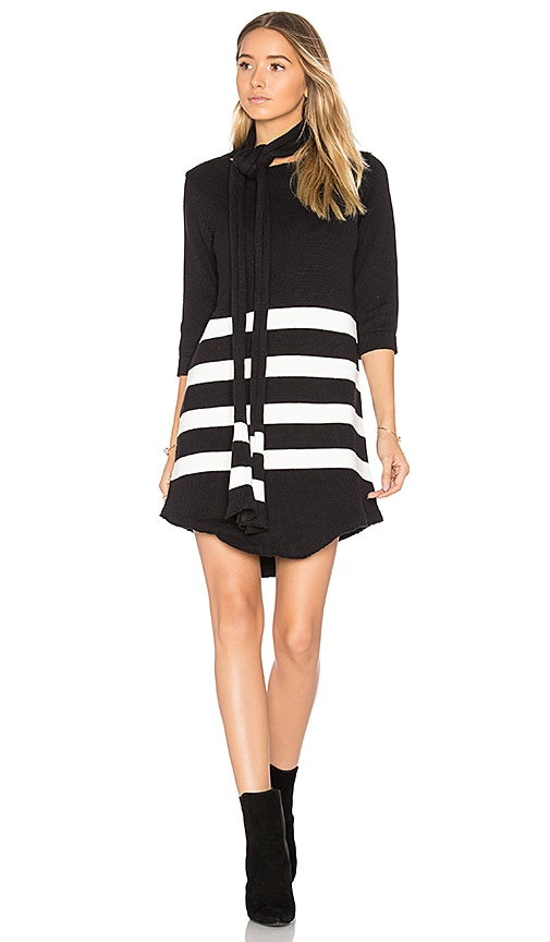 For Love & Lemons Clemence Tunic Dress in Black & White