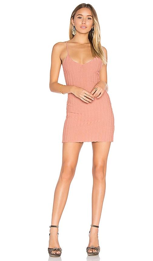 For Love & Lemons x KNITZ Simone Tank Mini Dress in Rose