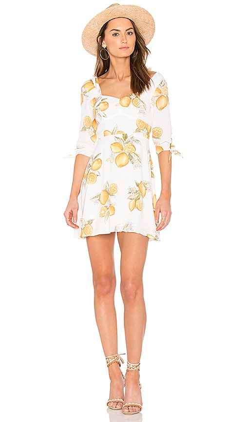 For Love & Lemons Limonada Mini Dress in White