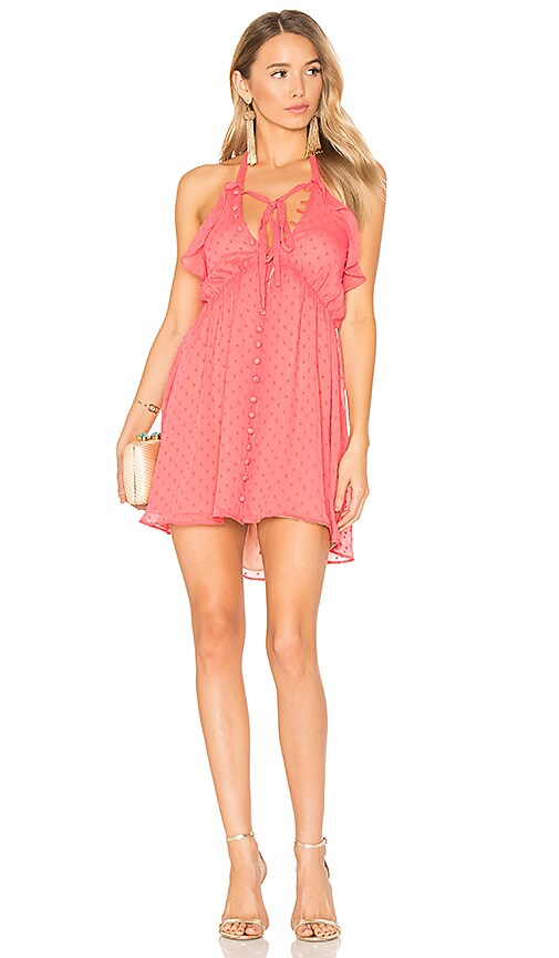 For Love & Lemons Tarta Tank Dress in Coral