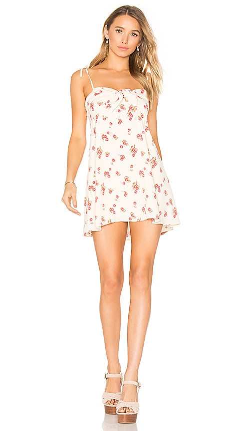 For Love & Lemons Cherry Tank Dress in Cream