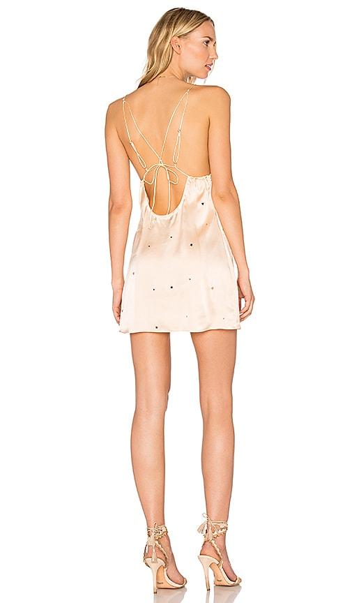 For Love & Lemons Twinkle Slip Dress in Blush
