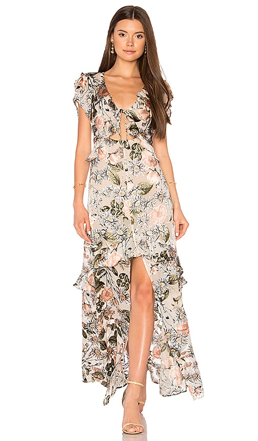 14dbd7fa1b3d6 For Love & Lemons Luciana Maxi Dress in Ivory Floral | REVOLVE