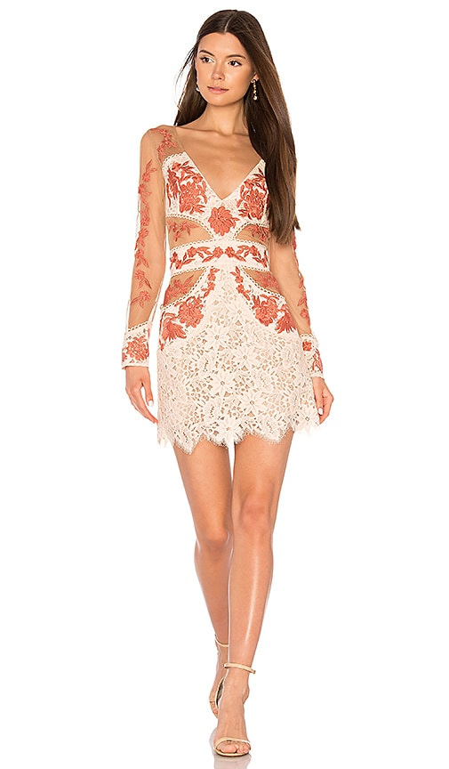 For Love & Lemons Matador Tulle Dress in Peach