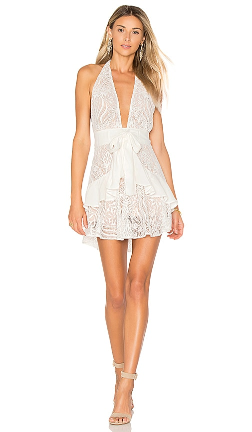 For Love & Lemons Lily Halter Dress in White