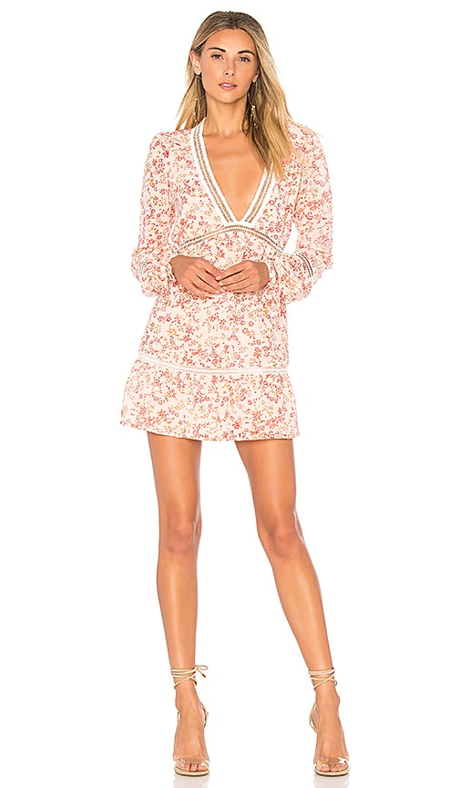 For Love & Lemons Sweet Disposition Swing Dress in Pink