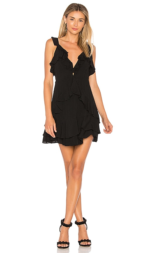 For Love & Lemons Poppy Mini Dress in Black