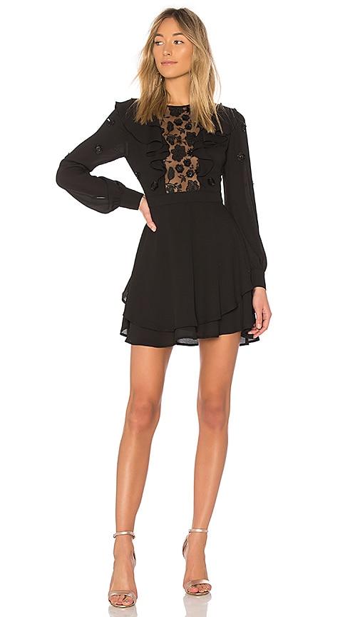 For Love & Lemons Vivi Embroidery Dress in Black