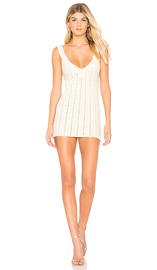 For Love & Lemons Daiquiri Tank Dress in Cream