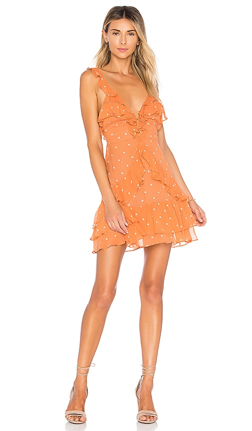 Analisa Polka Dot Tank Dress in Burnt Orange. - size L (also in M,S,XS) For Love & Lemons