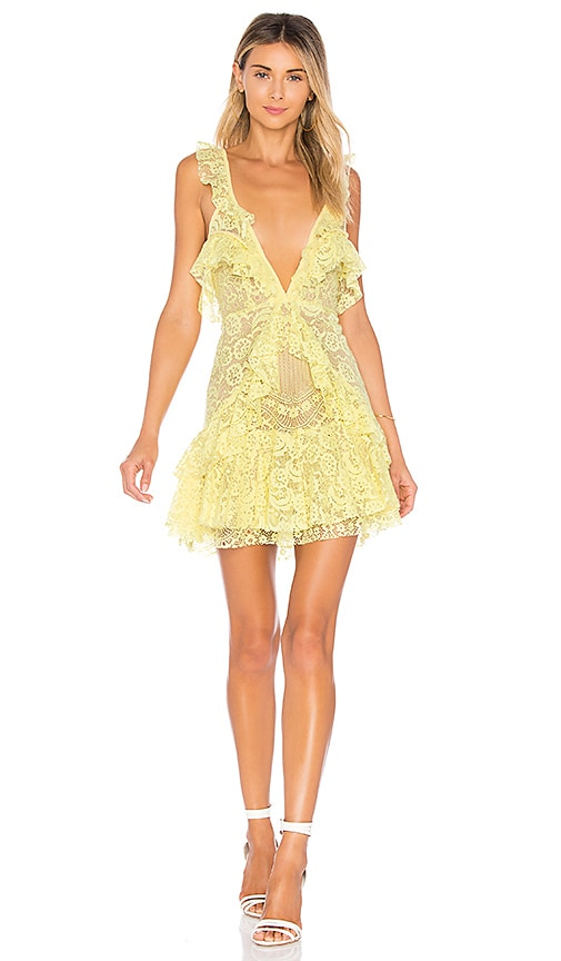 Tati Lace Ruffle Dress For Love Lemons