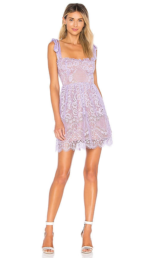 Valentina Lace Mini Skirt in Lavender. - size M (also in L,S,XS) For Love & Lemons
