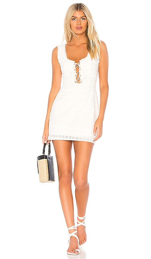 Charlotte Eyelet Lace Up Mini Dress by For Love & Lemons
