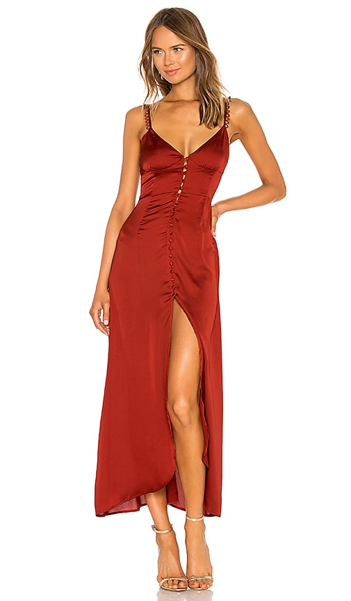 5c05150216 For Love   Lemons Isabella Button Up Maxi Dress in Rust