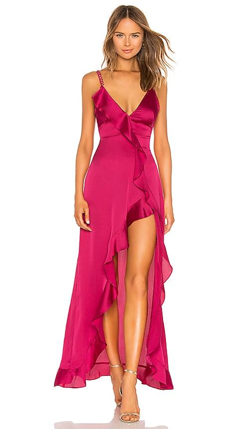 Isabella Ruffled Maxi Dress