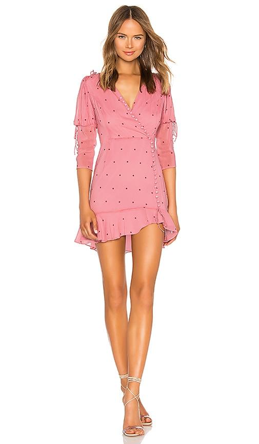 f16f84281632 For Love & Lemons Rosie Button Mini Dress in Rose Dot | REVOLVE