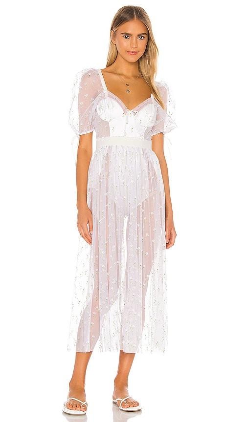 For Love & Lemons Frescia White Maxi Dress