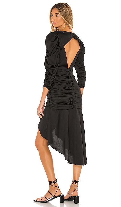 For Love & Lemons Charlie Midi Dress in Black | REVOLVE