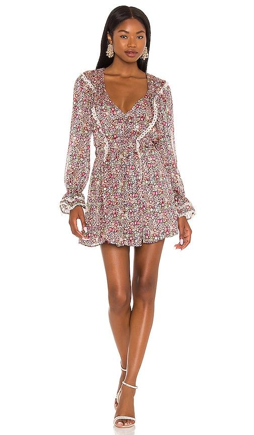 For Love & Lemons Grace Mini Dress in Multi   REVOLVE