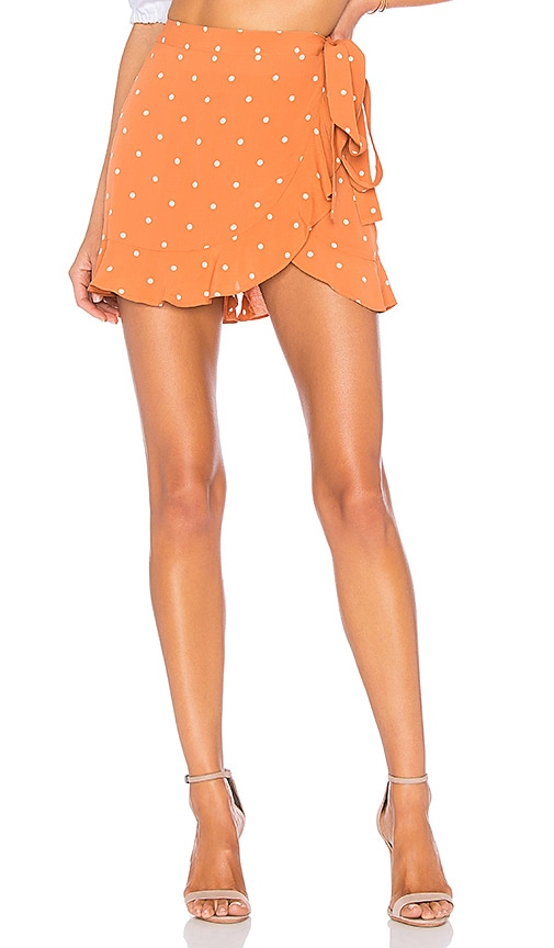 For Love & Lemons Natalia Dot Skort in Burnt Orange