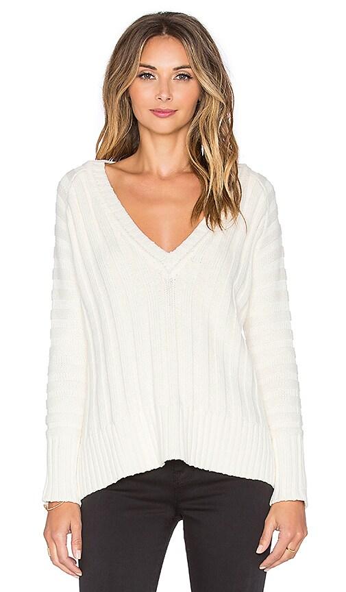 For Love & Lemons Ashley Raglan Sweater in Ivory