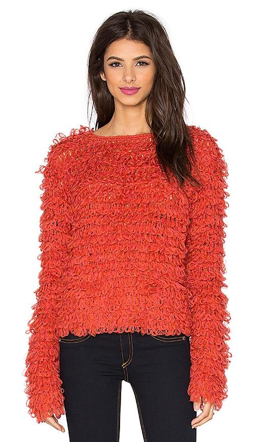 KNITZ by For Love & Lemons Joplin Sweater in Red