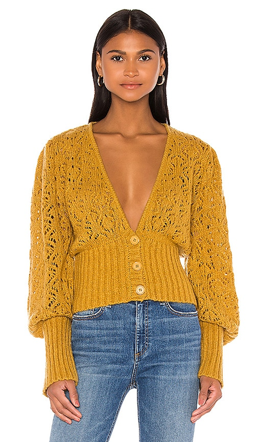 Francois V Neck Pointelle Sweater