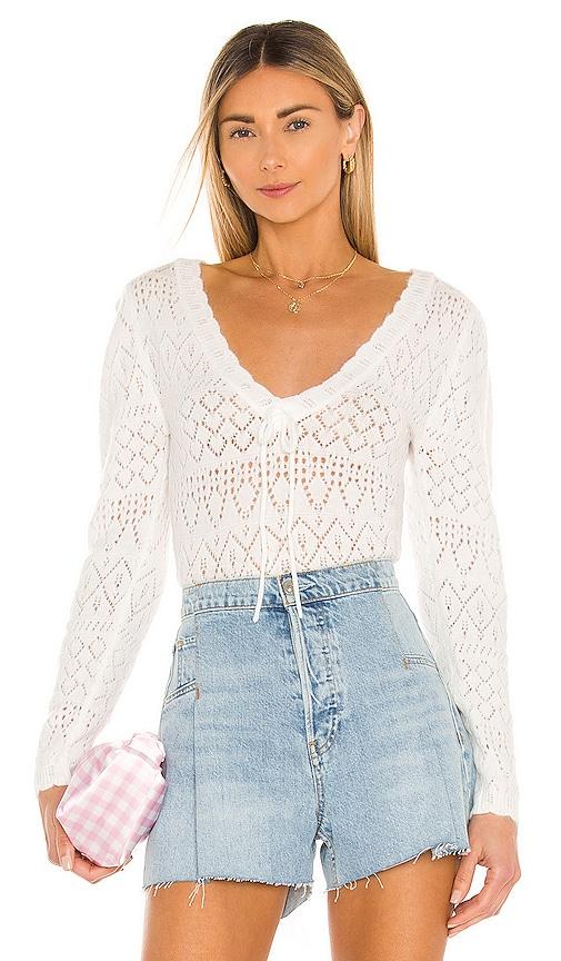 For Love & Lemons Sweaters BLANCA CROCHET SWEATER