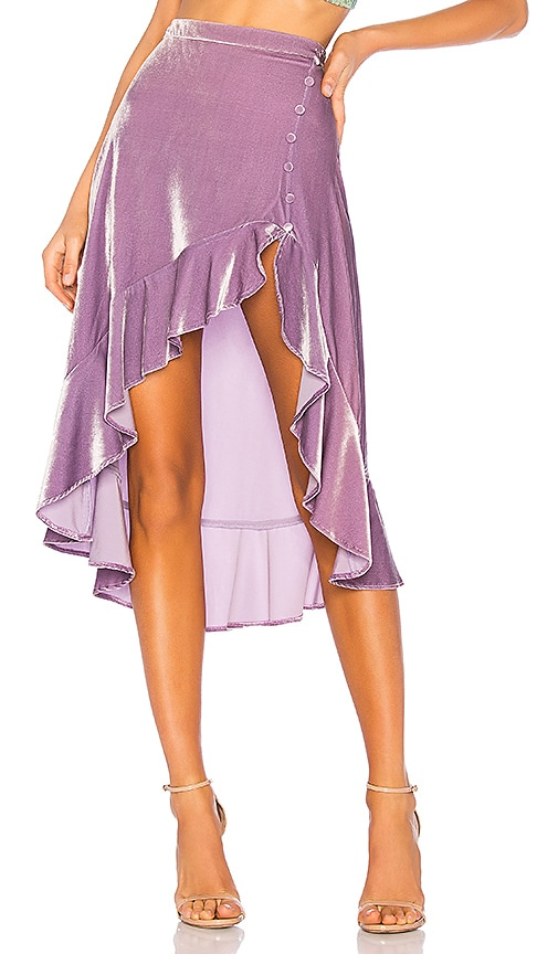 Viva Velvet High Low Skirt