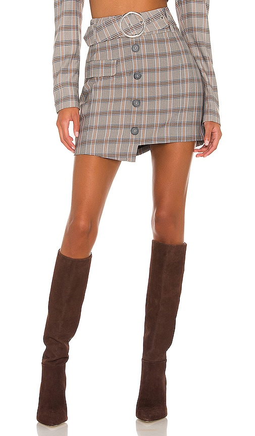 For Love & Lemons Kym Mini Skirt In 仿旧