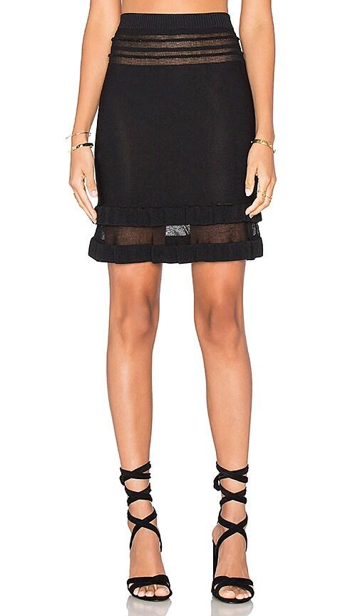 For Love & Lemons KNITZ Rivington Skirt in Black