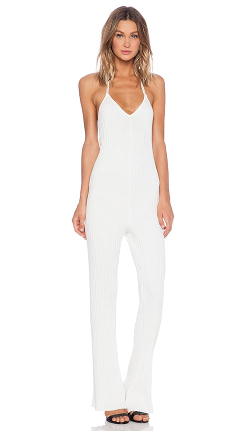 For Love Lemons Back To Basics Jumpsuit In White Revolve