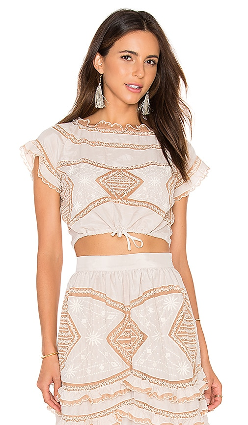 For Love & Lemons Winona Top in Beige