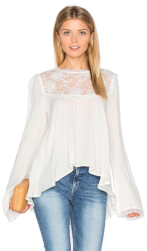 For Love & Lemons Ellery Top in White