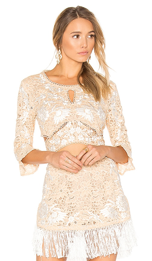 For Love & Lemons Matador Crop Top in Cream